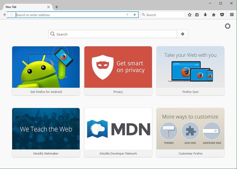 Firefox панель закладок