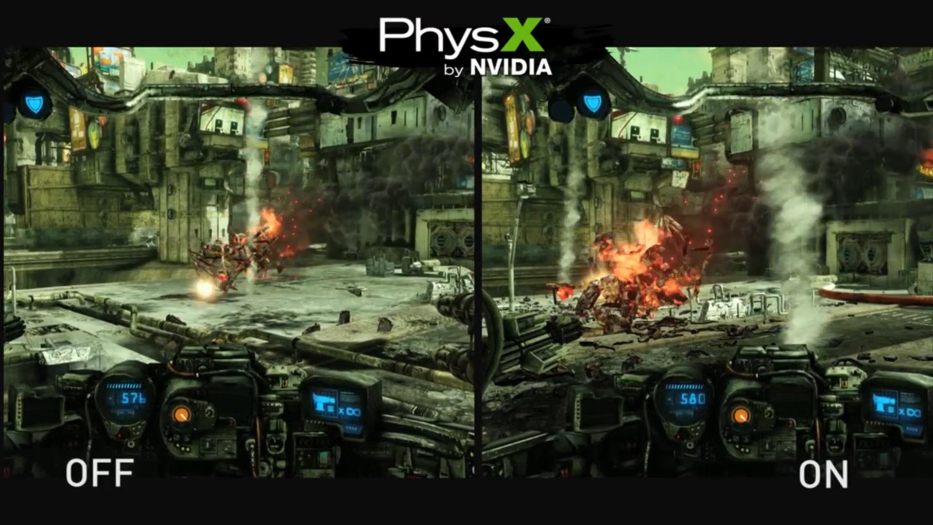 Nvidia PhysX преимущество в играх