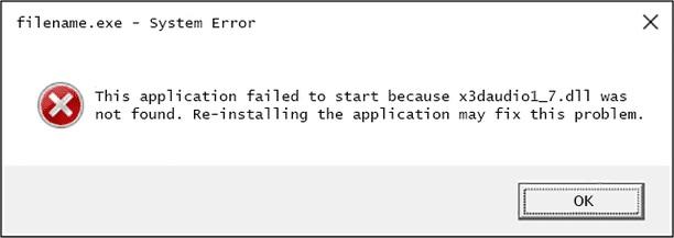 Ошибка файла динамической библиотеки