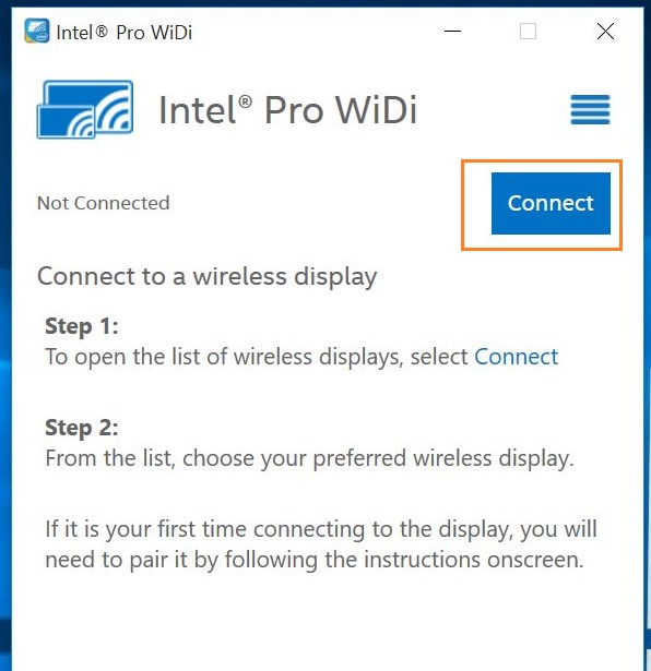 Intel wireless display download.