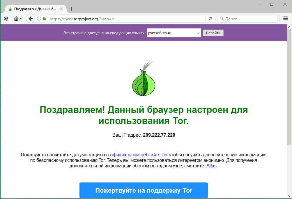 Tor запуск